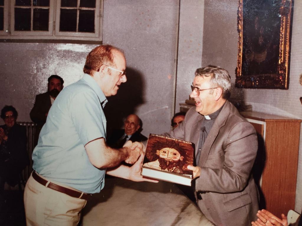 Antonio Mª en evento cultural Escuelas Pías1980