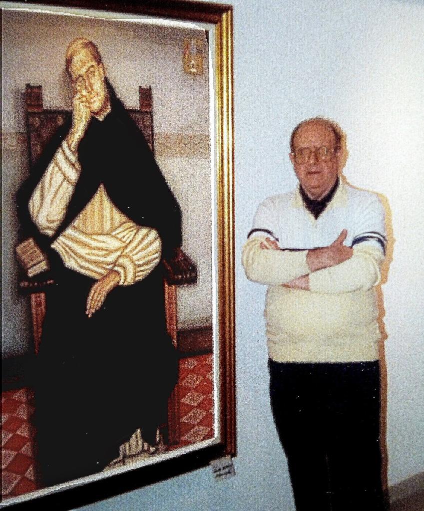 Antonio Mª Almazán con su Fray Gil 1987
