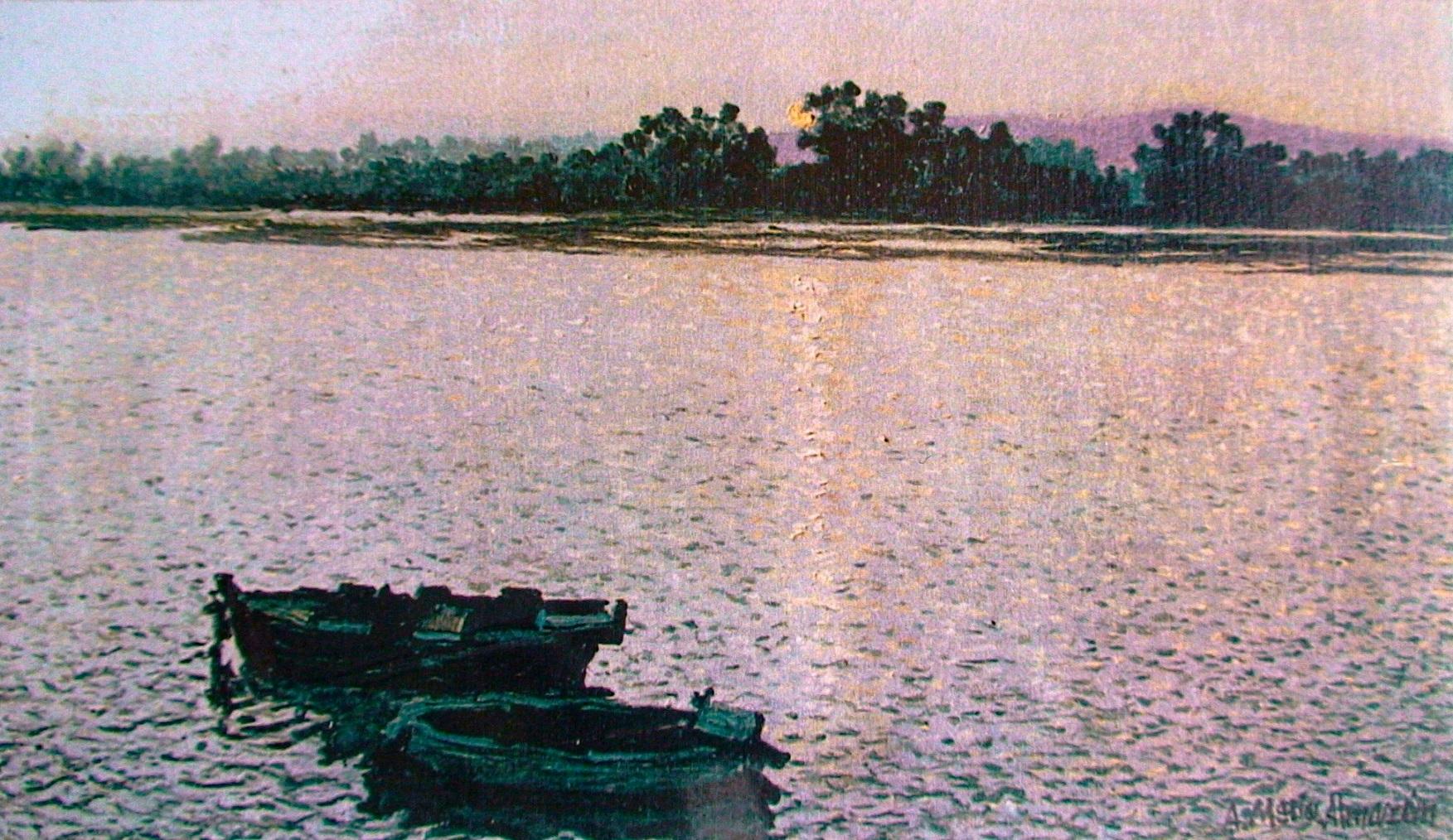 Amanecer en La Toja. 1994. 51x34