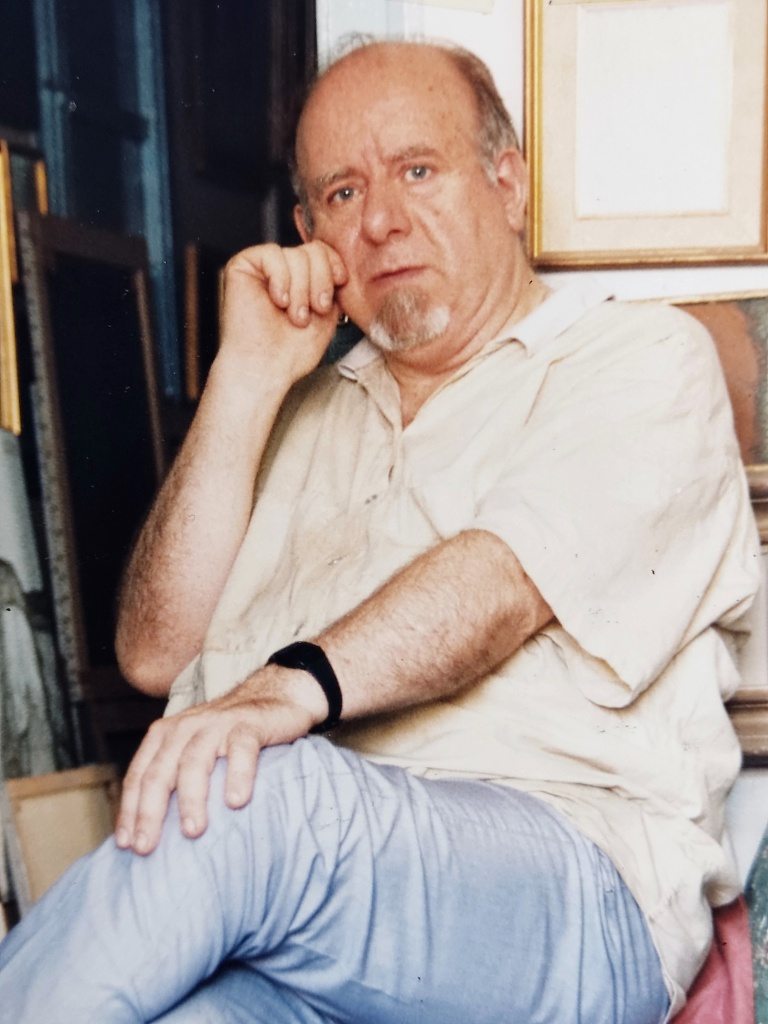 Antonio Mª descansa en una sesión de pintura 1996