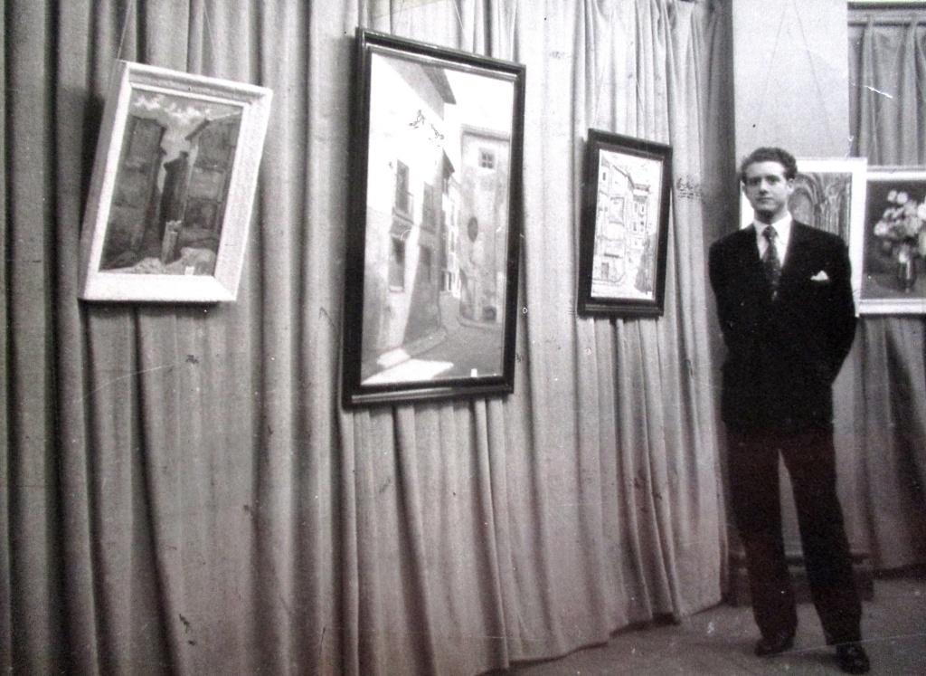 1º Exposición individual Antonio Mª 1954