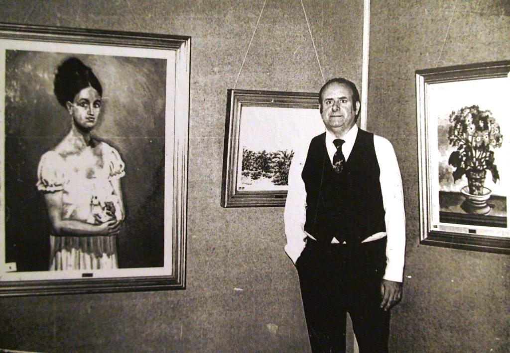 Exposición en Casino Mercantil. Zaragoza 1979