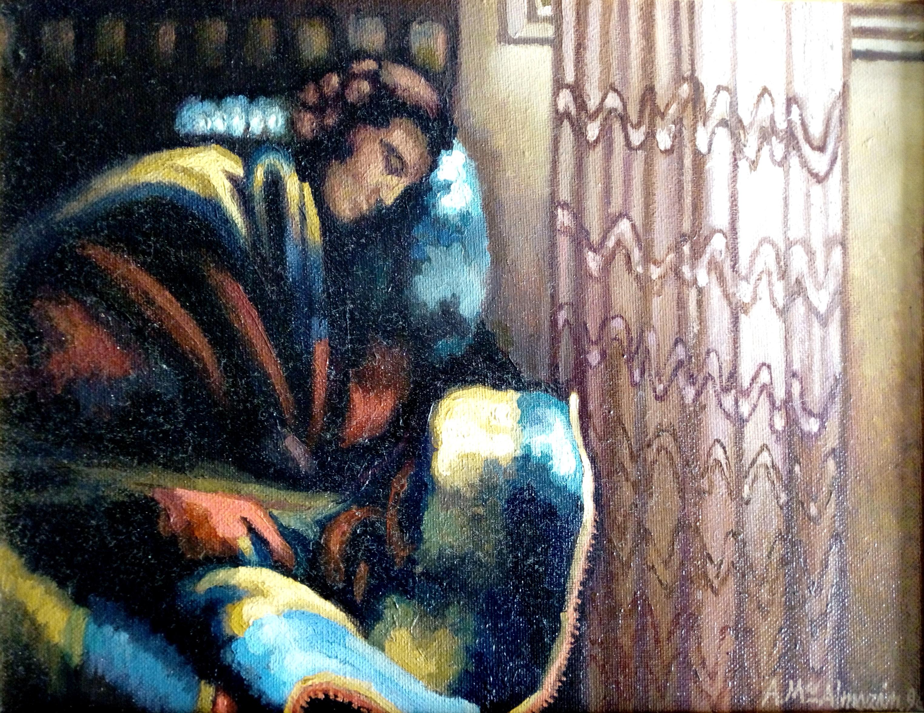 Mujer durmiente.1996. 34x26