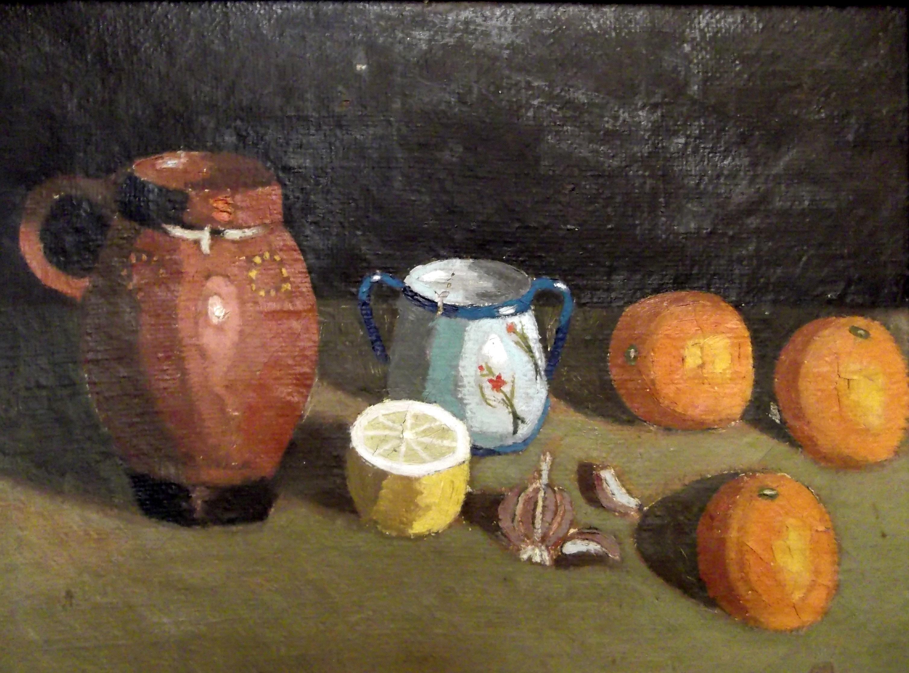 Naranjas y cerámica.1951. 51x38